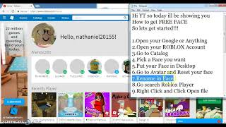 How to Get Free Face in ROBLOX (Working)
