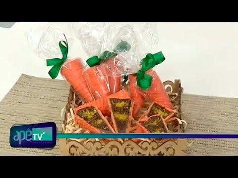 ApêTV - Receita de Família: Cone recheado com bolo de cenoura e brigadeiro 10/03/18