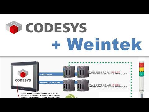 Использование CODESYS в панелях Weintek