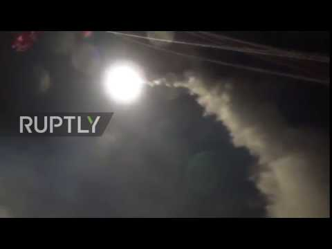 Mediterranean: US launches missile strike on Syrian air base