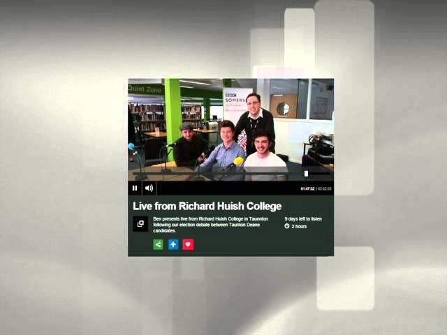 Pop music students performing on BBC Radio Somerset