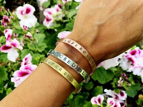 DIY Stamped Metal Bracelets