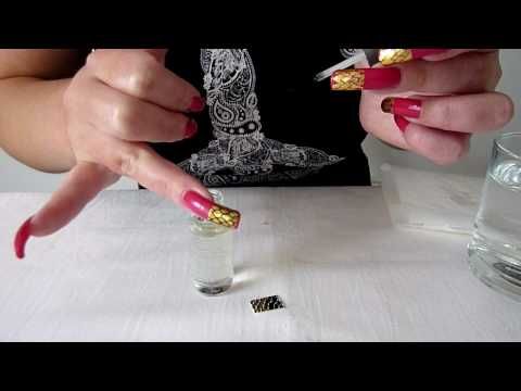 How To Apply Water Decals. Snake Skin Pink Funky French Nail Manicure Design / Art Natural Nails
