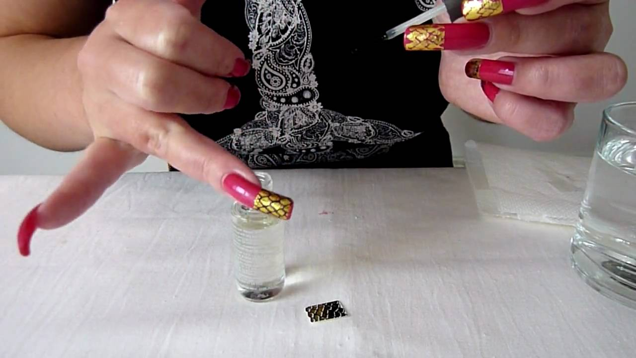 How To Apply Water Decals Snake Skin Pink Funky French Nail