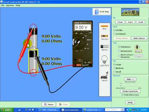electric circuit analysis measuring voltage animation youtube rh youtube com electric bell circuit animation electric circuit animation .gif