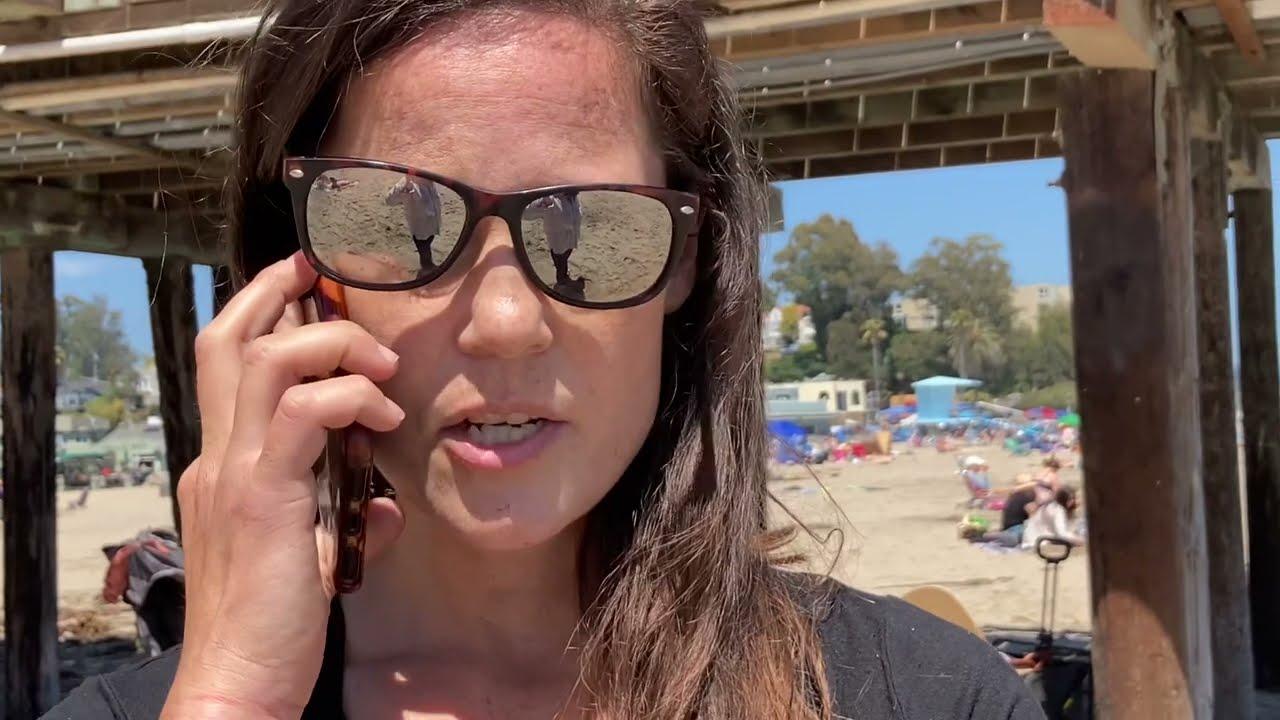 Capitola Karen Calls Bikini Patrol for Recording on Beach