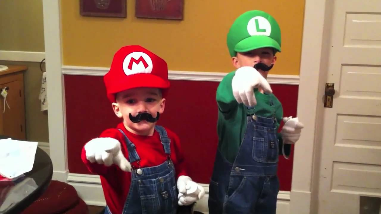 mario bros. costumes with sound effects - youtube