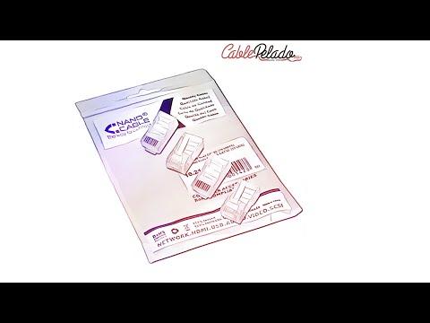 Video de Conector RJ45 CAT5e (50ud/bolsa)  Transparente