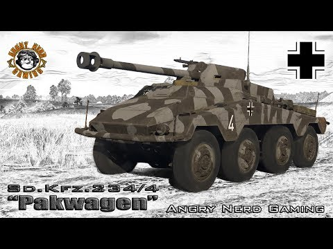 "War Thunder: Sd.Kfz.234/4 ""Pakwagen"", German, Tier-2, Tank Destroyer"