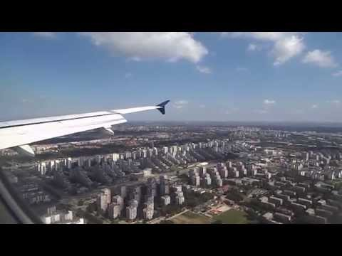 AirSERBIA A320 landing at Belgrade Nikola Tesla Airport