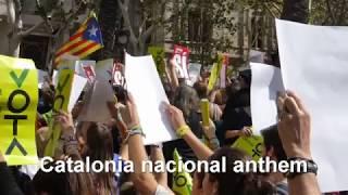 カタロニア独立 バルセロナ、9月21日のデモ