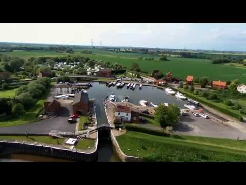 Aerial Footage of The Waterfront Inn and West Stockwith Basin
