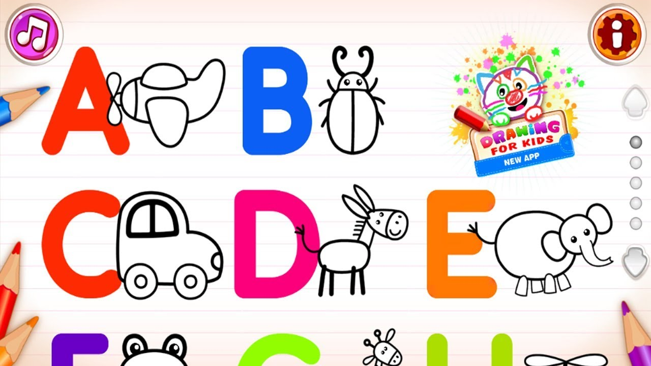 Kids Games  Abc Draw Alphabet Games Preschool Kids Drawing
