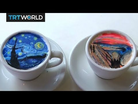 South Korean barista wows fans with latte art