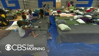 Hurricane Florence: Restless night for North Carolinians in shelters