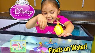 CUTE DISNEY PRINCESS Little Kingdom Dolls Float on Water Opening - Rapunzel Belle Toy Figures Swim