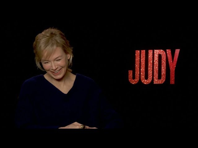 JUDY movie interviews - Renee Zellweger talks about playing Judy Garland