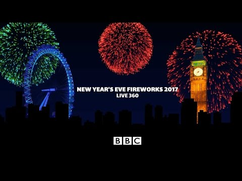 London Fireworks 2016 / 2017 - New Year's Eve Fireworks (4k 360 video) - BBC One