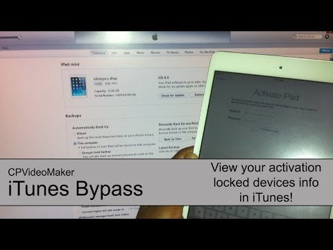 iTunes: View Info of an iCloud Locked Device (iTunes Bypass?) [DOES