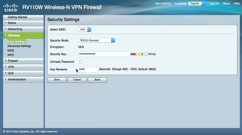 Cisco rv110w problem Firmware Version 1 2 1 4