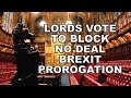 Lords Move to block a no deal Brexit Prorogation!