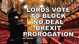 Lords Move to block a no deal Brexit Prorogation! thumbnail