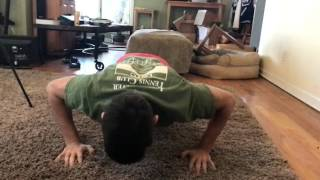 Double clap push-up in slow motion