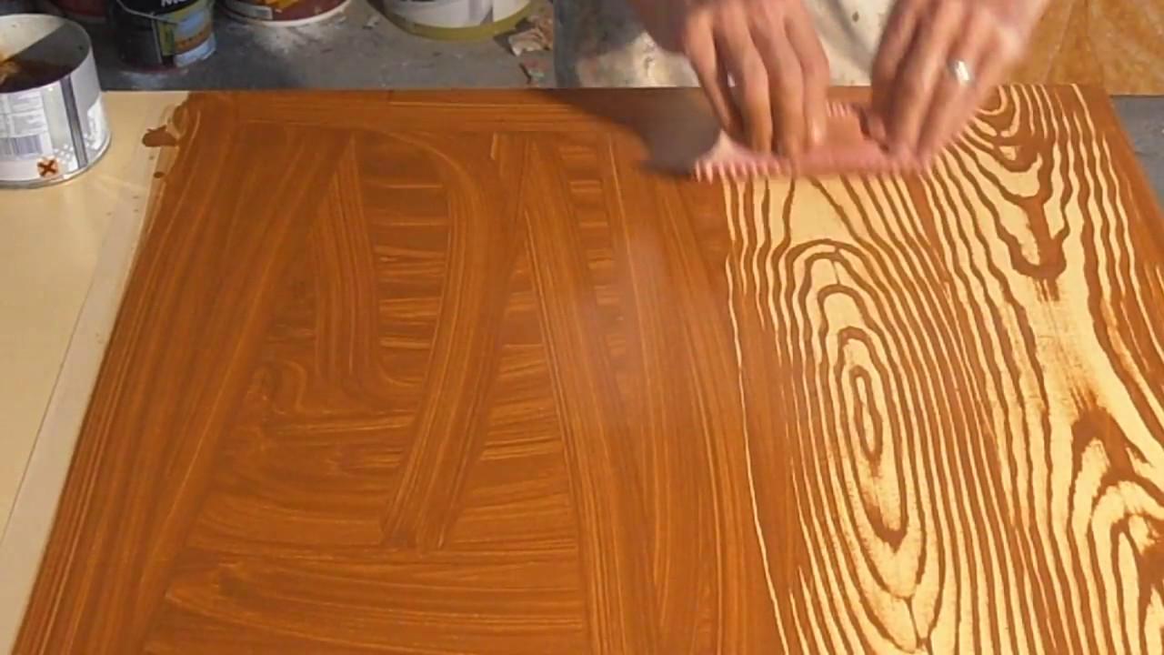 como pintar imitacion de madera inventos caseros