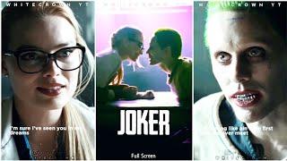 Joker Full Screen Whatsapp Status | Joker | Harley Quin | Sucide Squad | Whitecrown | Full Screen