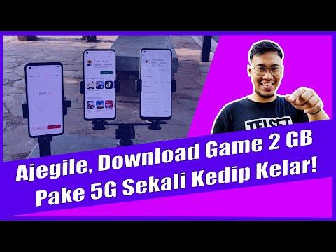 NGEBUT GILAA!! Test 5G untuk Download Game Call of Duty: Mobile