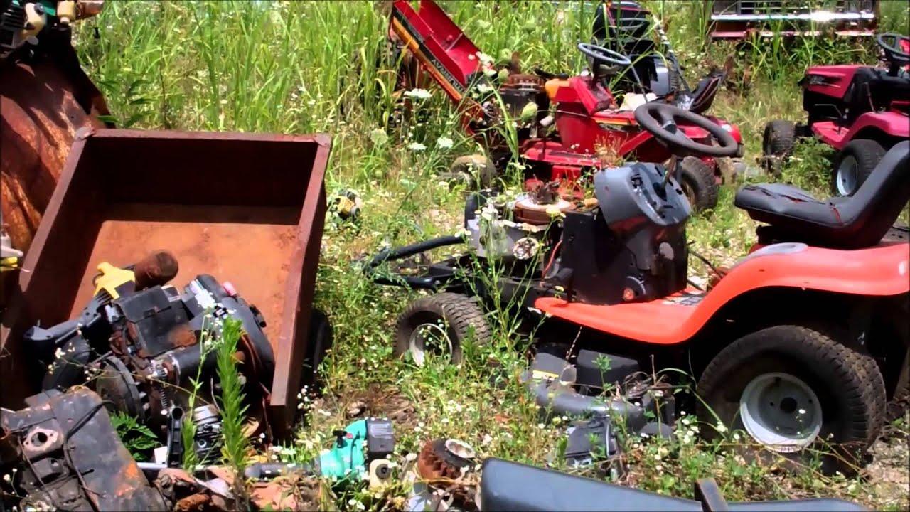 Trip To The Mower Junk Yard Youtube