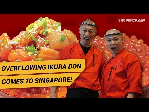 OVERFLOWING IKURA DON COMES TO SINGAPORE - Served by Real Hachikyo Chefs!