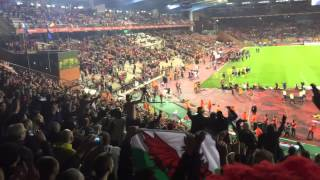 wales v belgium in brussels 16 11 14 welsh fans