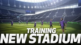 PLAYERS TRAIN AT SPURS NEW STADIUM FOR THE FIRST TIME! 😍