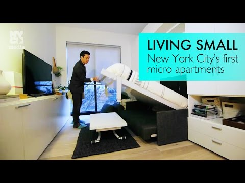 See inside NYC's first micro apartment building + transforming furniture for tiny spaces