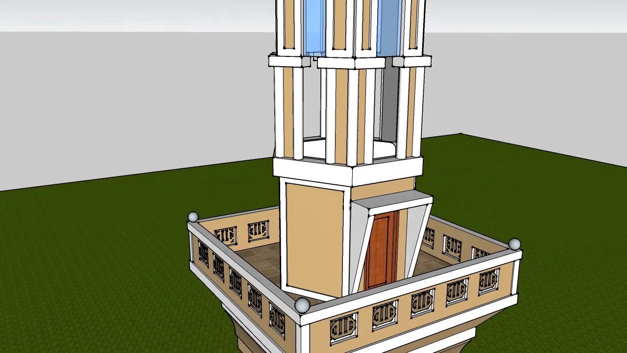 Contoh Desain Menara Masjid Youtube