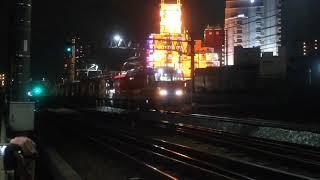 2019.7.10名鉄新形式9500系9501F EL120PP牽引舞木検査場へ深夜の搬入回送