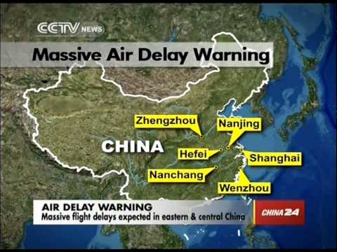 At least 23 airports affected in eastern & central China
