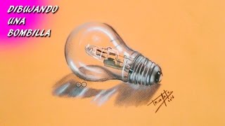 Dibujando una Bombilla | Drawing a light bulb