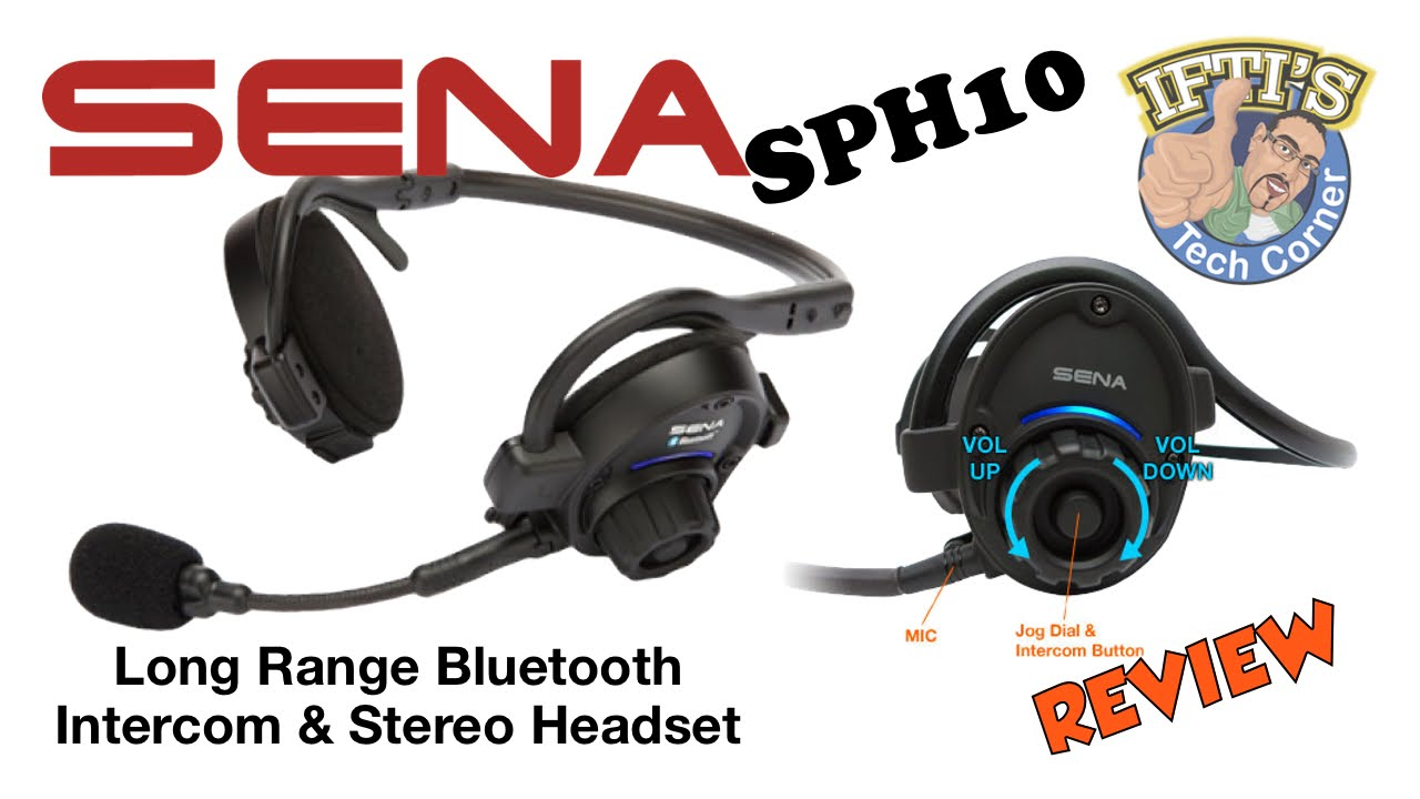 Sena Sph10 Bluetooth Intercom Stereo Headset Review Youtube