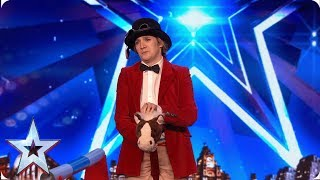 Simon is NOT impressed with VJ Clarke's horsing around | Auditions | BGT 2019