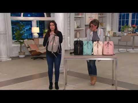Aimee Kestenberg Leather Backpack- Tamitha on QVC