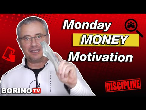 How To Stay MOTIVATED: Monday Money Motivation With Borino ✅