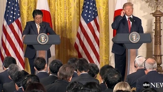 Trump Pretended to Speak Japanese During Prime Minister's Visit