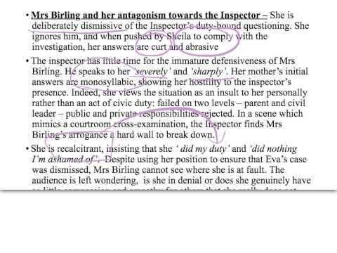 Mrs birling essay