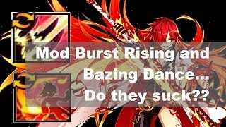 [Elsword] Mod Burst Rising and Blazing Dance showcase with tooltips (엘소드 플로 버라 블댄 체인지)