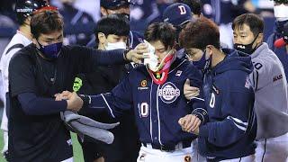 첫 잠실더비 LG 승리…두산은 박세혁 부상에 비상 / …