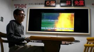 MCの方がいたのでしゃべれませんでした。 東日本の揺れは横揺れ、なので...
