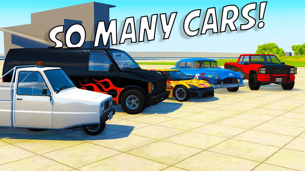 so many cars beamng drive car variety mod 180 new cars youtube. Black Bedroom Furniture Sets. Home Design Ideas