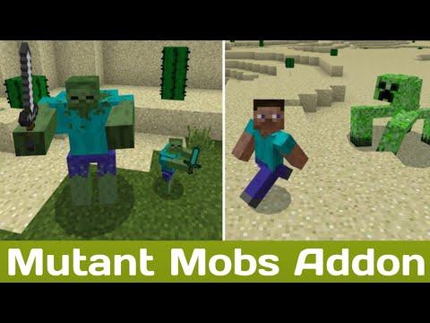 Mutant Mobs Addon | MCPE 1.12+